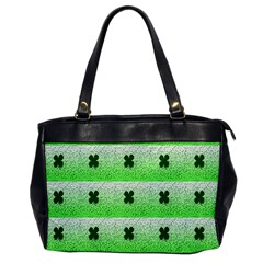 Shamrock Pattern Office Handbags by Nexatart