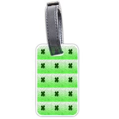 Shamrock Pattern Luggage Tags (one Side)
