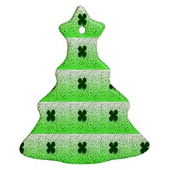 Shamrock Pattern Christmas Tree Ornament (two Sides)