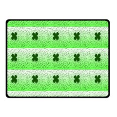 Shamrock Pattern Double Sided Fleece Blanket (small)  by Nexatart