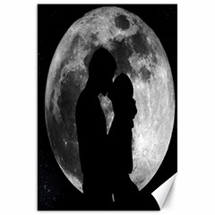 Silhouette Of Lovers Canvas 20  X 30