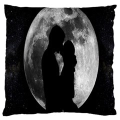 Silhouette Of Lovers Large Cushion Case (two Sides) by Nexatart