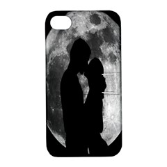 Silhouette Of Lovers Apple Iphone 4/4s Hardshell Case With Stand