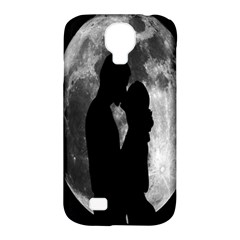 Silhouette Of Lovers Samsung Galaxy S4 Classic Hardshell Case (pc+silicone)