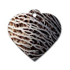 Seed Worn Lines Close Macro Dog Tag Heart (two Sides)