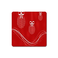 Simple Merry Christmas Square Magnet by Nexatart