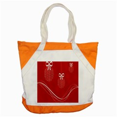 Simple Merry Christmas Accent Tote Bag