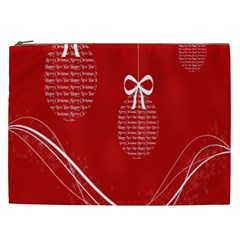 Simple Merry Christmas Cosmetic Bag (xxl)  by Nexatart