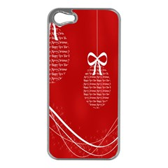 Simple Merry Christmas Apple Iphone 5 Case (silver)
