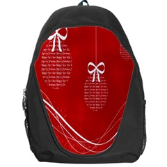 Simple Merry Christmas Backpack Bag by Nexatart