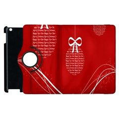 Simple Merry Christmas Apple Ipad 2 Flip 360 Case by Nexatart