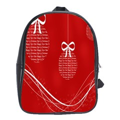 Simple Merry Christmas School Bags (xl)  by Nexatart