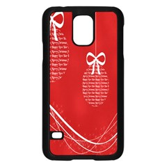 Simple Merry Christmas Samsung Galaxy S5 Case (black)