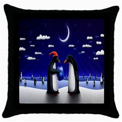 Small Gift For Xmas Christmas Throw Pillow Case (black)