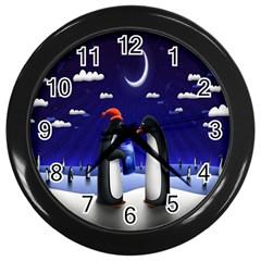Small Gift For Xmas Christmas Wall Clocks (black) by Nexatart