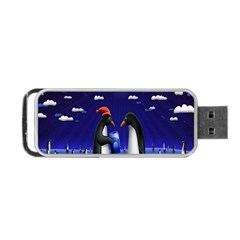 Small Gift For Xmas Christmas Portable Usb Flash (two Sides) by Nexatart