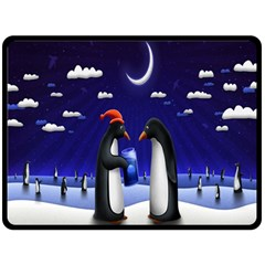 Small Gift For Xmas Christmas Double Sided Fleece Blanket (large)