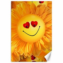 Smiley Joy Heart Love Smile Canvas 24  X 36