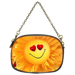 Smiley Joy Heart Love Smile Chain Purses (one Side)
