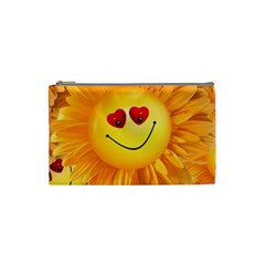 Smiley Joy Heart Love Smile Cosmetic Bag (small)  by Nexatart