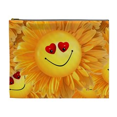 Smiley Joy Heart Love Smile Cosmetic Bag (xl) by Nexatart