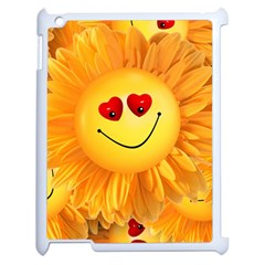 Smiley Joy Heart Love Smile Apple Ipad 2 Case (white) by Nexatart