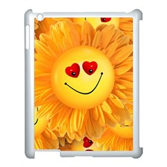 Smiley Joy Heart Love Smile Apple Ipad 3/4 Case (white)