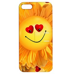 Smiley Joy Heart Love Smile Apple Iphone 5 Hardshell Case With Stand