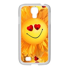 Smiley Joy Heart Love Smile Samsung Galaxy S4 I9500/ I9505 Case (white) by Nexatart