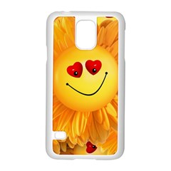 Smiley Joy Heart Love Smile Samsung Galaxy S5 Case (white)