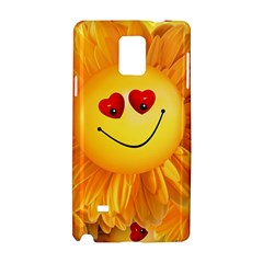 Smiley Joy Heart Love Smile Samsung Galaxy Note 4 Hardshell Case by Nexatart