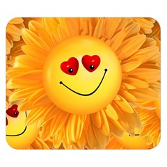 Smiley Joy Heart Love Smile Double Sided Flano Blanket (small)  by Nexatart