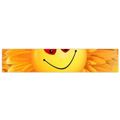 Smiley Joy Heart Love Smile Flano Scarf (small) by Nexatart