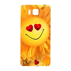 Smiley Joy Heart Love Smile Samsung Galaxy Alpha Hardshell Back Case by Nexatart