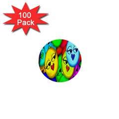 Smiley Girl Lesbian Community 1  Mini Buttons (100 Pack)
