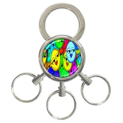 Smiley Girl Lesbian Community 3 Ring Key Chains by Nexatart