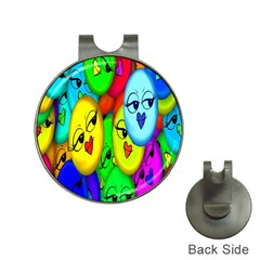 Smiley Girl Lesbian Community Hat Clips With Golf Markers by Nexatart