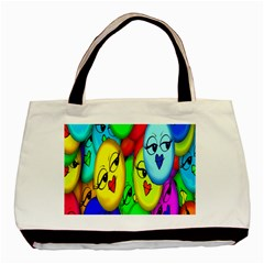 Smiley Girl Lesbian Community Basic Tote Bag by Nexatart