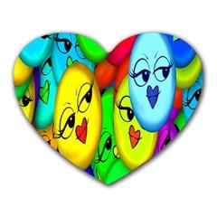 Smiley Girl Lesbian Community Heart Mousepads