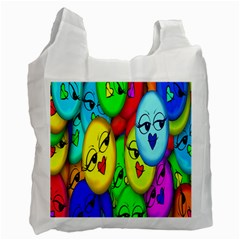 Smiley Girl Lesbian Community Recycle Bag (one Side) by Nexatart