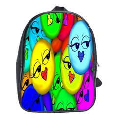 Smiley Girl Lesbian Community School Bags(large)  by Nexatart