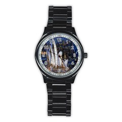 Sidney Travel Wallpaper Stainless Steel Round Watch