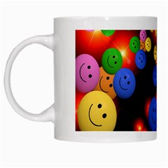 Smiley Laugh Funny Cheerful White Mugs
