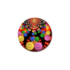 Smiley Laugh Funny Cheerful Golf Ball Marker (10 Pack)