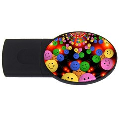Smiley Laugh Funny Cheerful Usb Flash Drive Oval (4 Gb) by Nexatart
