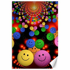 Smiley Laugh Funny Cheerful Canvas 12  X 18