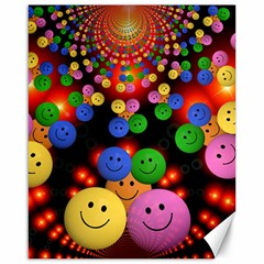 Smiley Laugh Funny Cheerful Canvas 16  X 20
