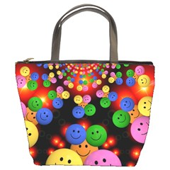 Smiley Laugh Funny Cheerful Bucket Bags by Nexatart