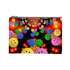 Smiley Laugh Funny Cheerful Cosmetic Bag (large)  by Nexatart