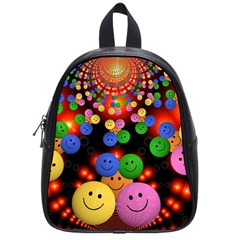 Smiley Laugh Funny Cheerful School Bags (small)  by Nexatart